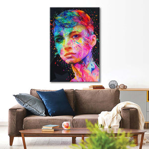 Her Multi Panel Canvas Wall Art - Portrait