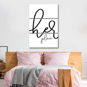 Her place Multi Panel Canvas Wall Art - Relationship