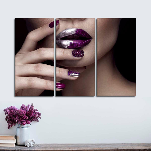 High Fashion Nails Multi Panel Canvas Wall Art