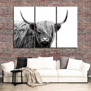 Highland Cow Multi Panel Canvas Wall Art - Animals