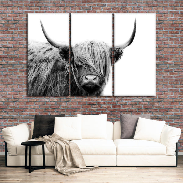 Highland Cow Multi Panel Canvas Wall Art