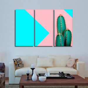 Hip Cactus Multi Panel Canvas Wall Art - Botanical