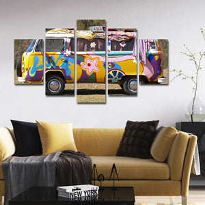 Hippie Van Multi Panel Canvas Wall Art - Agenda