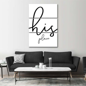 His place Multi Panel Canvas Wall Art - Relationship