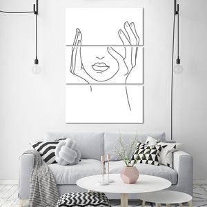 Hold Your Head Up Multi Panel Canvas Wall Art - Minimalism
