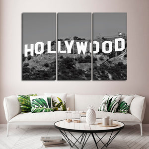 Hollywood Sign Multi Panel Canvas Wall Art - City