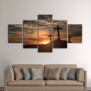 Holy Sunrise Multi Panel Canvas Wall Art - Religion