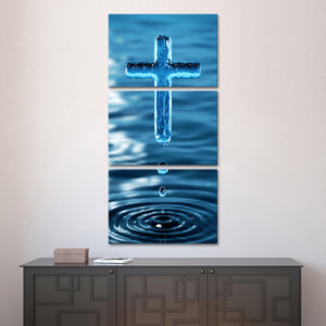 Holy Water Multi Panel Canvas Wall Art - Religion