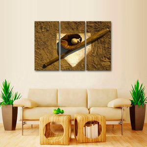 Home Run Multi Panel Canvas Wall Art - Baseball