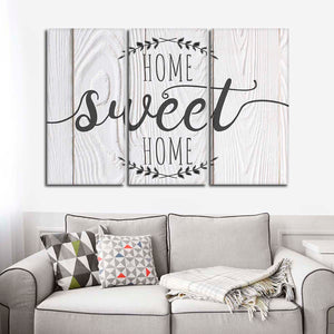 Home Sweet Home Multi Panel Canvas Wall Art - Inspiration