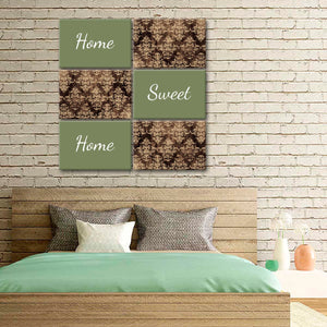 Home Sweet Home Pattern Canvas Set Wall Art - Inspiration