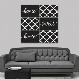 Home Sweet Home B&W Canvas Set Wall Art - Inspiration