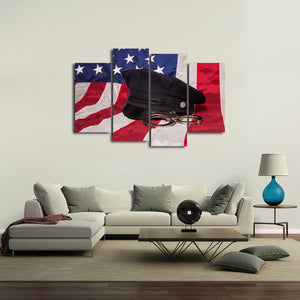 Honor Multi Panel Canvas Wall Art - Police