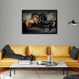 Horses Multi Panel Canvas Wall Art