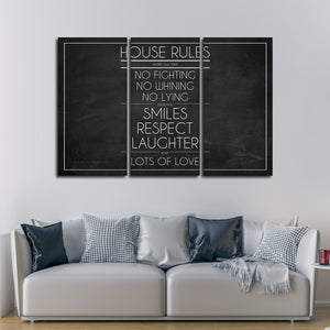 House Rules Multi Panel Canvas Wall Art - Agenda