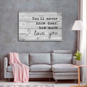 How Much I Love You Canvas Wall Art - Relationship
