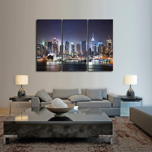 Hudson River View Multi Panel Canvas Wall Art - City