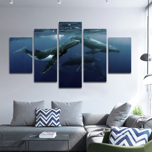 Humpback Whale Multi Panel Canvas Wall Art - Whale