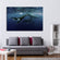Humpback Whale Multi Panel Canvas Wall Art