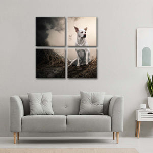 Hunting Labrador Multi Panel Canvas Wall Art - Dog