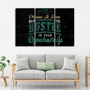 Hustle Sold Separately Multi Panel Canvas Wall Art - Entrepreneur