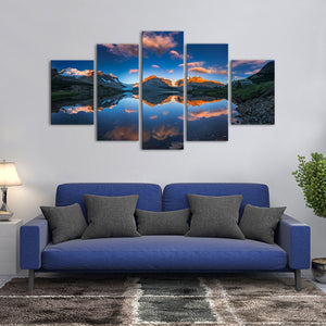 Icefield Glacier Multi Panel Canvas Wall Art - Nature