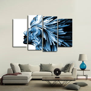 Imaginative Profile Multi Panel Canvas Wall Art - Color