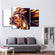 Imaginative Profile Multi Panel Canvas Wall Art
