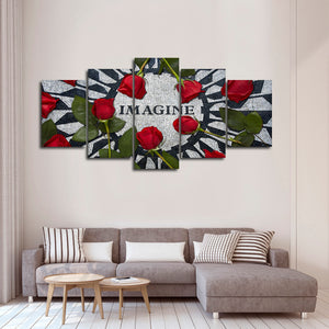 Imagine Peace Multi Panel Canvas Wall Art - Inspiration