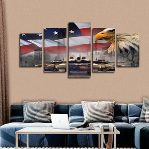 In Good We Trust Multi Panel Canvas Wall Art - America