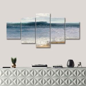 Indigo Isle Multi Panel Canvas Wall Art - Beach