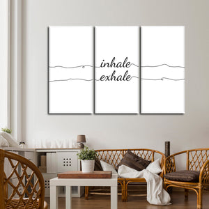 Inhale Exhale Multi Panel Canvas Wall Art - Inspiration