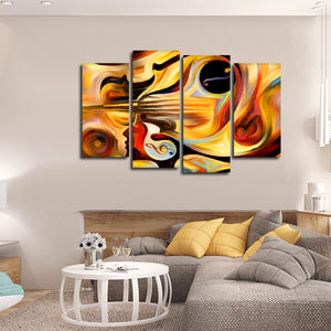 Inner Melody Multi Panel Canvas Wall Art - Color