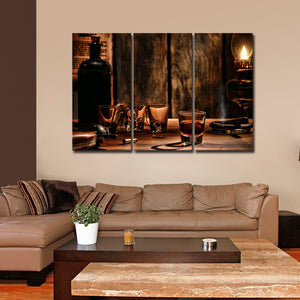Irish Whiskey Multi Panel Canvas Wall Art - Whiskey