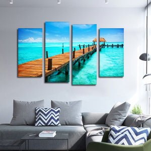 Isla Mujeres Heaven Multi Panel Canvas Wall Art - Beach