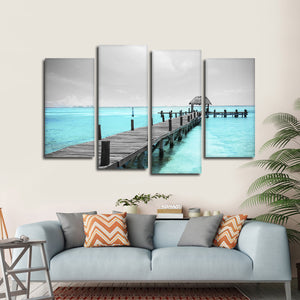 Isla Mujeres Heaven Pop Multi Panel Canvas Wall Art - Beach