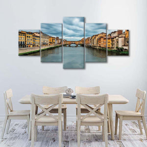 Italian Bridge Multi Panel Canvas Wall Art - City