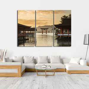 Itsukushima Multi Panel Canvas Wall Art - Japan