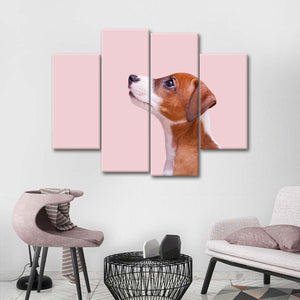 Jack Russell Terrier Multi Panel Canvas Wall Art - Dog