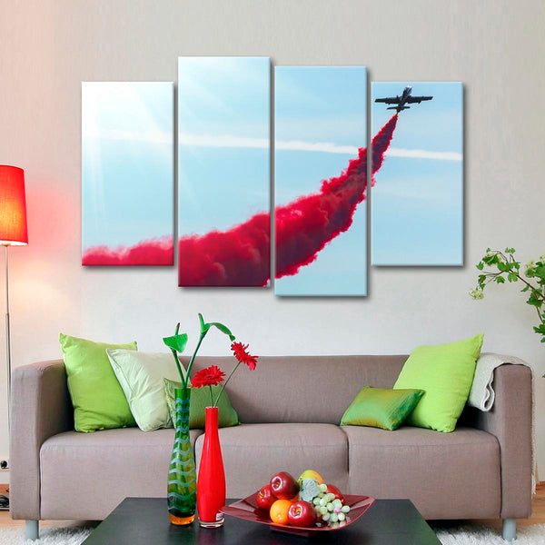 Jet Sky Trail Multi Panel Canvas Wall Art