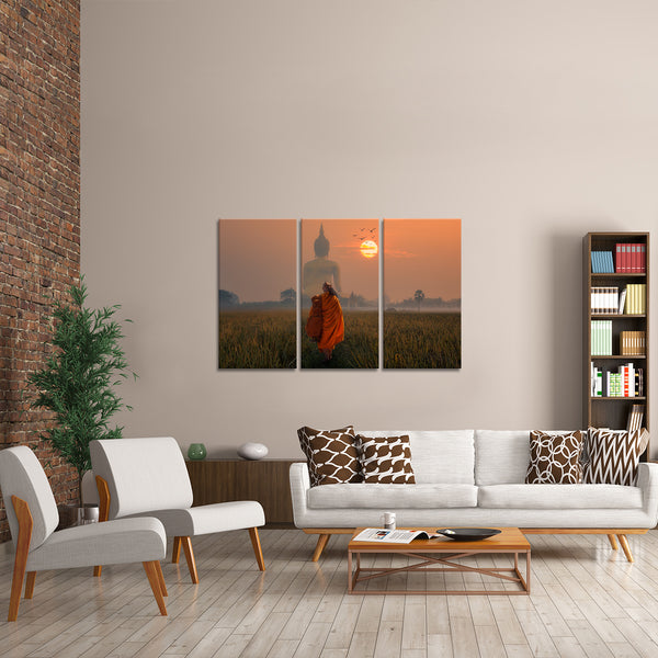 Journey To Buddha Multi Panel Canvas Wall Art