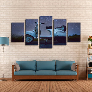 Journey by Wheels Multi Panel Canvas Wall Art - Bike