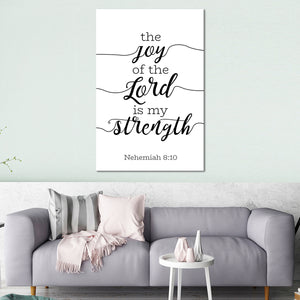 Joy Of The Lord Canvas Wall Art - Religion