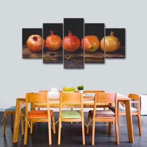 Juicy Pomegranates Multi Panel Canvas Wall Art - Kitchen