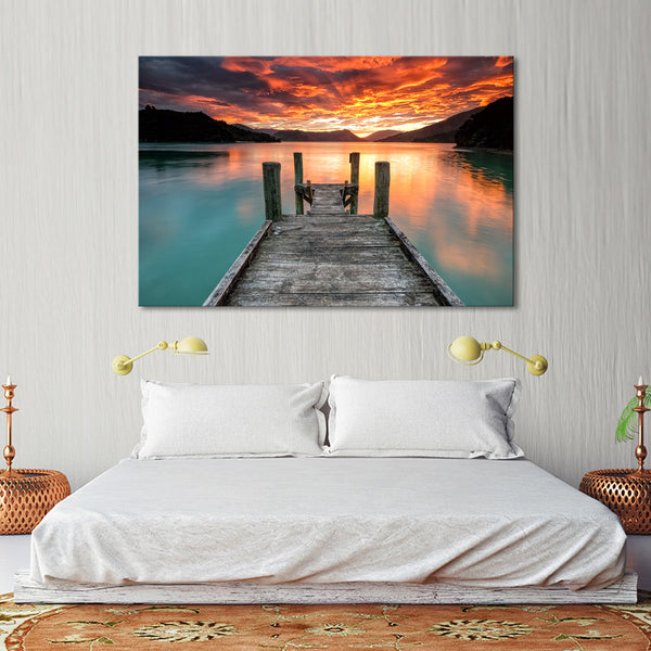 Jump To The Lake Multi Panel Canvas Wall Art