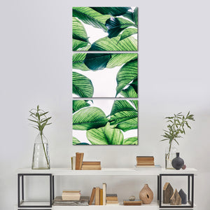 Jungle Leaves Multi Panel Canvas Wall Art - Botanical