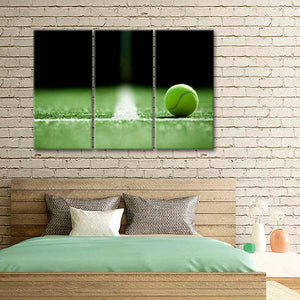 Kick Serve Landing Multi Panel Canvas Wall Art - Tennis