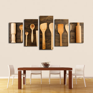 Kitchen Utensils Multi Panel Canvas Wall Art - Kitchen