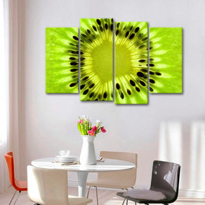 Kiwi Fruit Multi Panel Canvas Wall Art - Macro