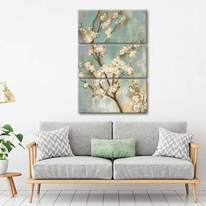 Kyoto Blossoms II Multi Panel Canvas Wall Art - Flower